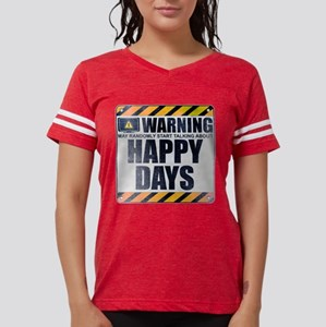 Warning: Happy Days Womens Football Shirt